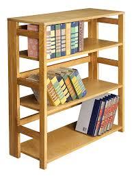amazon com regency flip flop 34 inch high folding bookcase amazon com regency flip flop 34 inch high folding bookcase medium oak kitchen dining