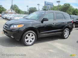 2007 hyundai santa fe limited 4wd in black 113290