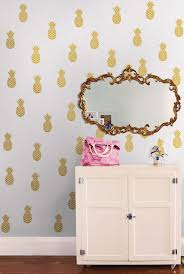 poptalk a peel and stick decorating blog gold pineapple wall decals