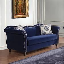 Blue Sofa Set Sofas Center Modern Living Room Furniture Luxury Velvet Blue