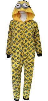 webundies despicable me minion hooded plus size one pajama
