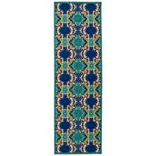 Indoor Outdoor Rug Runner Runner 1 2 Blue Outdoor Rugs Rugs The Home Depot