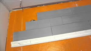 part 4 how to install wood look plank tile on schluter ditra tile