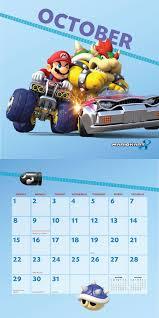 thanksgiving bank holiday mario kart 2017 wall calendar nintendo 9781419720406 amazon com