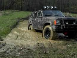 mud jeep cherokee jeep cherokee xj get a little mud on the tires youtube
