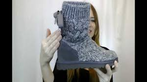 womens ugg knit boots s ugg isla mid shaft boot available at peltzshoes com