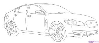 car drawing how to draw a jaguar step by step cars draw cars online clip