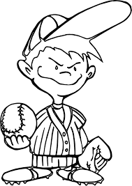 kids baseball best playing baseball coloring page wecoloringpage