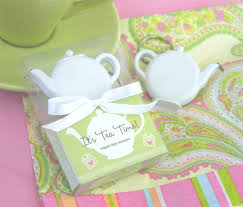 tea party bridal shower favors it s tea time teapot measure keychain favors