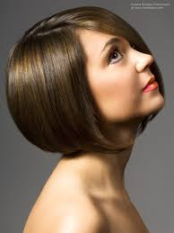 short bob with gradation on the back for volume