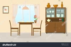 dining room interior table chairs sideboard stock vector 428219005 dining room interior with table chairs and sideboard vector illustration