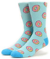 future donut allover light blue crew socks zumiez