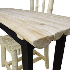 90 off nadeau nadeau handcrafted rustic table and chair tables