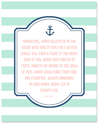 Anchor Print Inspirational Print Quot - never give up