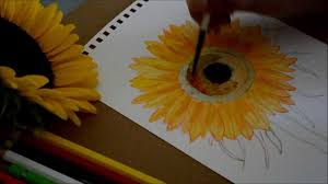 What Is Orange Flower Water - how to paint sun flower with water color revised youtube