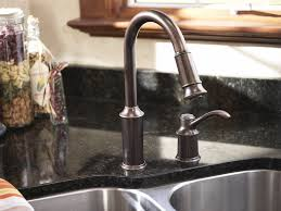 kohler rubbed bronze kitchen faucet impressive rubbed bronze kitchen faucet and kohler vinnata