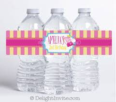 princess peppa pig birthday water bottle labels di 619wb