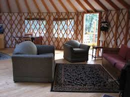 Living In A Yurt by Yurt Living Room Wilderness Wind