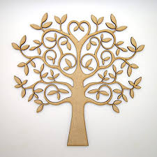 mdf tree shape for crafts with added for family