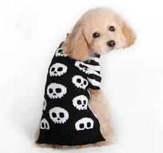 skull warm pet cat crochet knit sweater pullover
