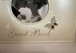 ivory wedding guest book ivory wedding guest book diamante heart