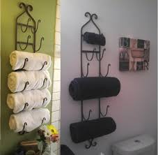 Bathroom Towel Decorating Ideas Bathroom Bathroom Shelves Design Ideas With Towel Racks Hardware