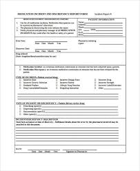 medication incident report form template report template professional and high quality templates page 8