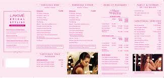 wedding makeup packages lakme salon bridal stylist services luminence 3 ritual