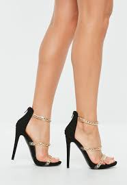 heeled sandals strappy barely there heels missguided