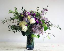garden style bouquets in vase the monarch florists