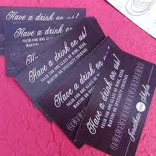 wedding drink tickets custom party food vouchers birthday
