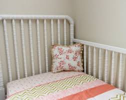 Gold And Coral Bedroom Coral Gold Nursery Etsy