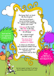 Baby Shower Invitation Wording Bring Books Instead Of Card Dr Seuss Baby Shower Invites U2013 Gangcraft Net