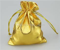 gold silver cloth bags jewelry pouch gift wrap 7 x 9 cm 2 75 x