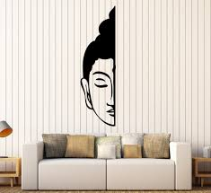 vinyl wall decal buddha face buddhism decoration room stickers