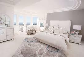 Hollywood Loft King Bedroom Set 4 Piece Aico Glimmering Heights Upholstered Platform Bedroom Set