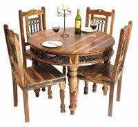 Jali Dining Table And Chairs Jali Sheesham Dining Table Complete With 4 X Dining Chairs