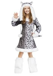 Halloween Costume Kids Girls Snow Leopard Child Costume