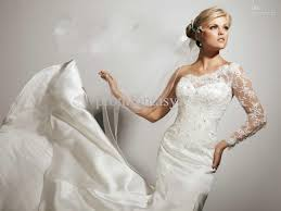 One Shoulder Wedding Dress One Shoulder Long Sleeve Wedding Dress Ivo Hoogveld