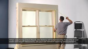 wall mounted height measure measure for direct mount shutter in wood trimmed window youtube