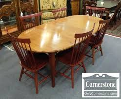 solid maple dining table solid maple table maple table with 2 leaves and 6 chairs solid maple