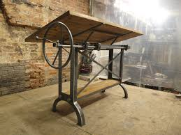 l shaped drafting desk large stand up oak industrial drafting table desk 3 390 00 via