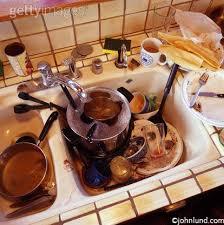 Messy Dirty Kitchen Sink - Dirty kitchen sink