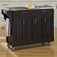 kitchen island with stainless top stainless steel kitchen islands carts you ll wayfair