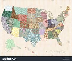 United State Of America Map by United States America Map On Linen Stock Illustration 178713971