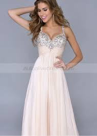slim beaded sweetheart neckline ivory chiffon ruching prom dress