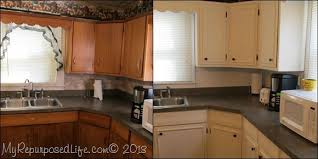 How To Sand Kitchen Cabinets Brilliant Painted Kitchen Cabinets Before And After Or Changing