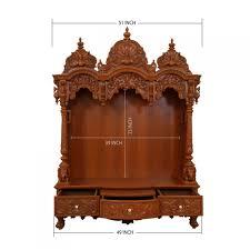 teak wood open carving puja mandir for home 280814 3047 teak