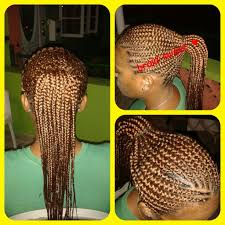 feed in cornrows done with super x braid this client wanted her