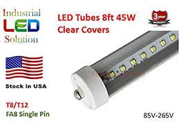 pack of 25 led 8 foot tube light bulb 6000k cool white clear